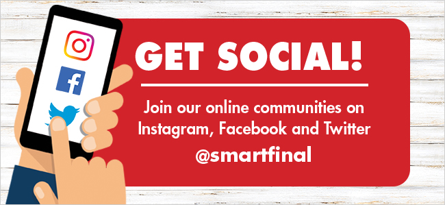 Get Social! Join our online communities on Instagram, Facebook and Twitter