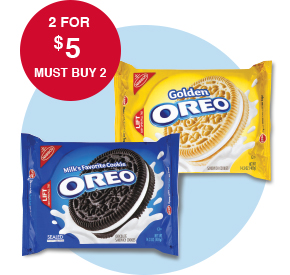Oreo Cookies 8-15.35 oz. 2 for $5 Must Buy 2