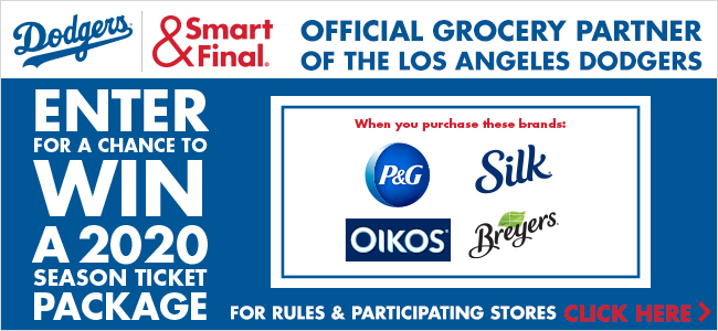 Dodgers Smart & Final Official Grocery Partners