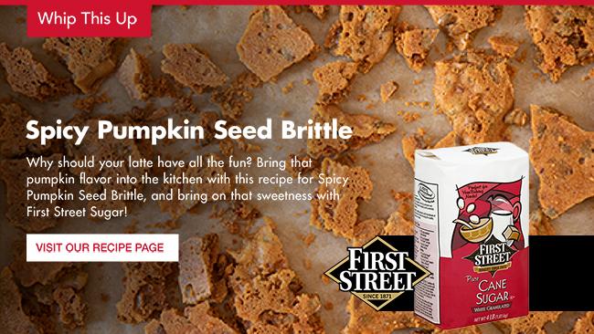 Spicy Pumpkin Seed Brittle - Recipe with First Street Sugar