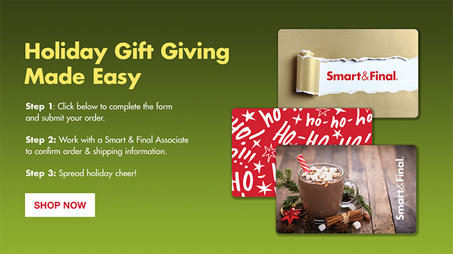 Holiday Gift Giving Made Easy - S&F Gift Cards