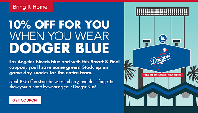 LA Dodgers - Wear Your Blue. 10% Off For You