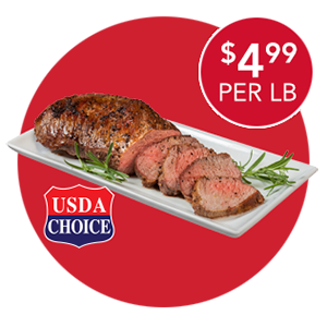 USDA CHOICE TRIMMED BEEF LOIN TRI TIP ROAST